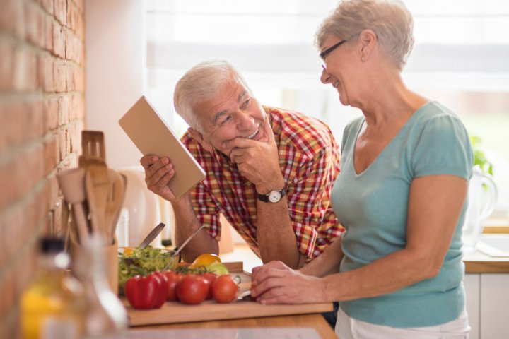 Senior couple retirement planning.